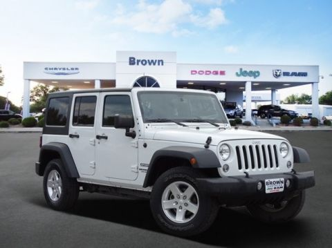 PRE-OWNED 2015 JEEP WRANGLER UNLIMITED 4WD 4DR SPORT FOUR WHEEL DRIVE SUV