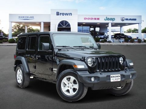 Pre-Owned 2019 Jeep Wrangler Unlimited Sport S 4WD